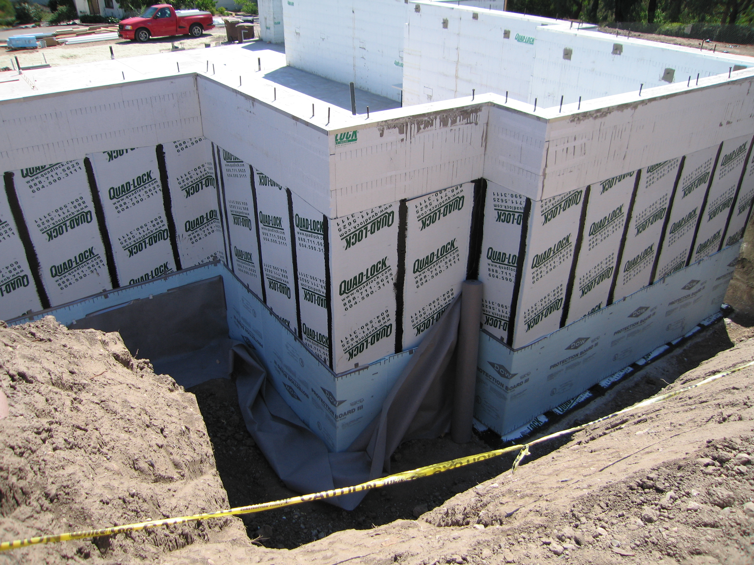 Insulated concrete form better basements with insulation for Icf concrete